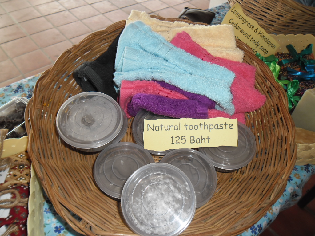 One of the products that is available at the Samui Green Market is Natural Toothpaste. | Samui Times