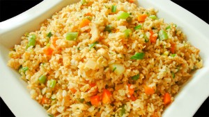 juicy fried rice