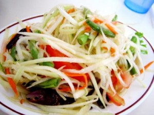 juicy papaya salad
