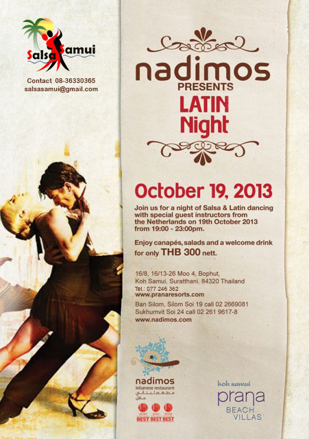 An invitation from Nadimos Restaurant at Prana Resort | Samui Times