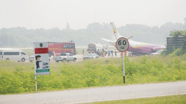 Another plane skids off the runway, this time Nok Air | Samui Times