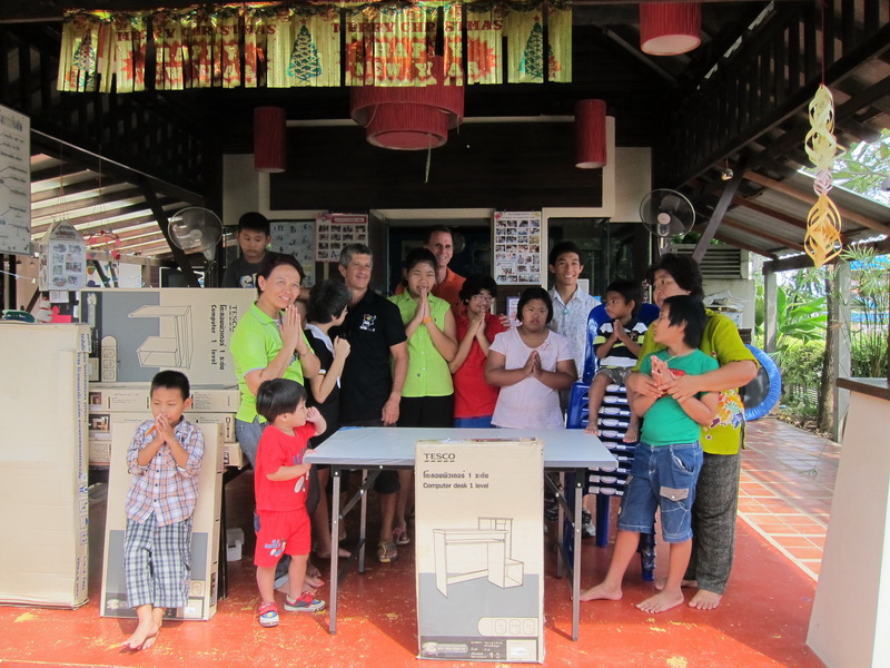 The Samui Pride organization buy and put together furniture for the Special Needs School | Samui Times