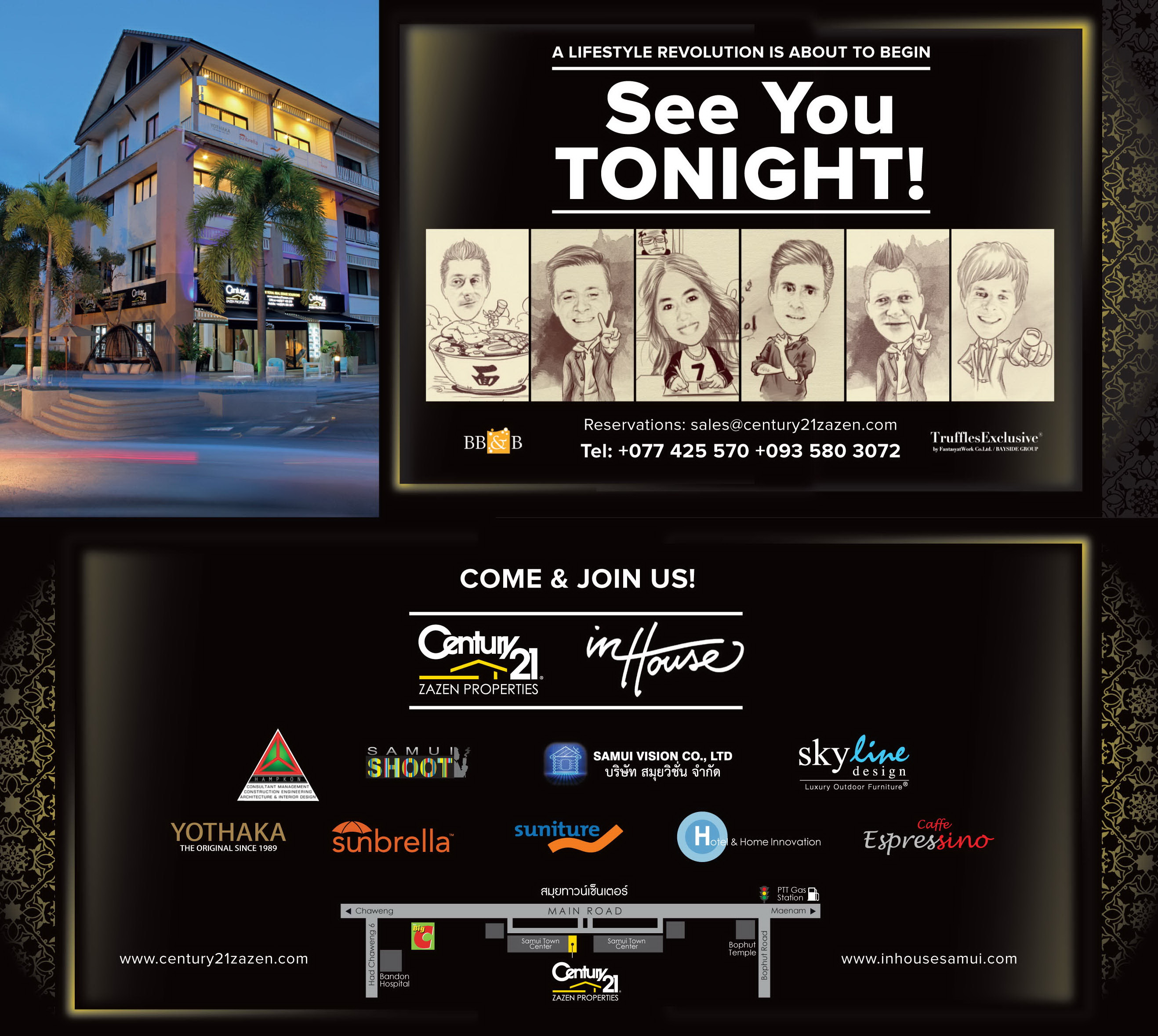 Century 21 Zazen Wine and Cheese evening for the Grand Opening tonight at 6pm | Samui Times