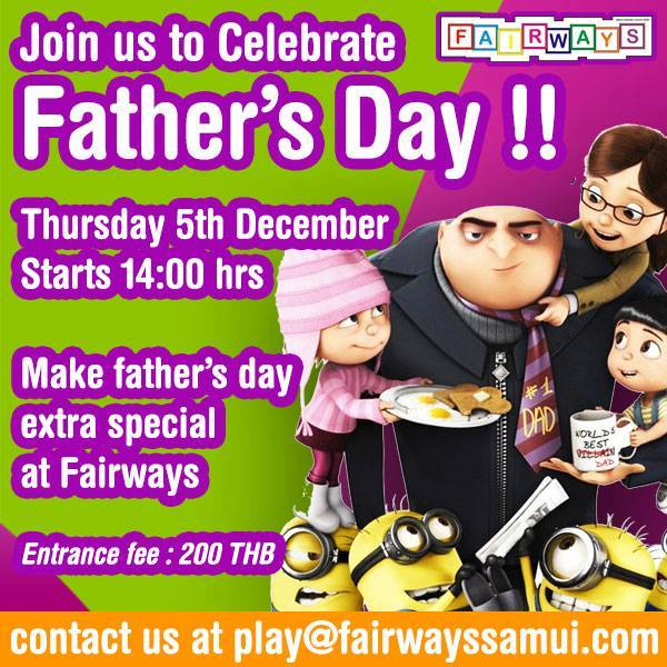 Fathers Day at Fairways | Samui Times