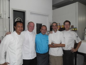 five chefs
