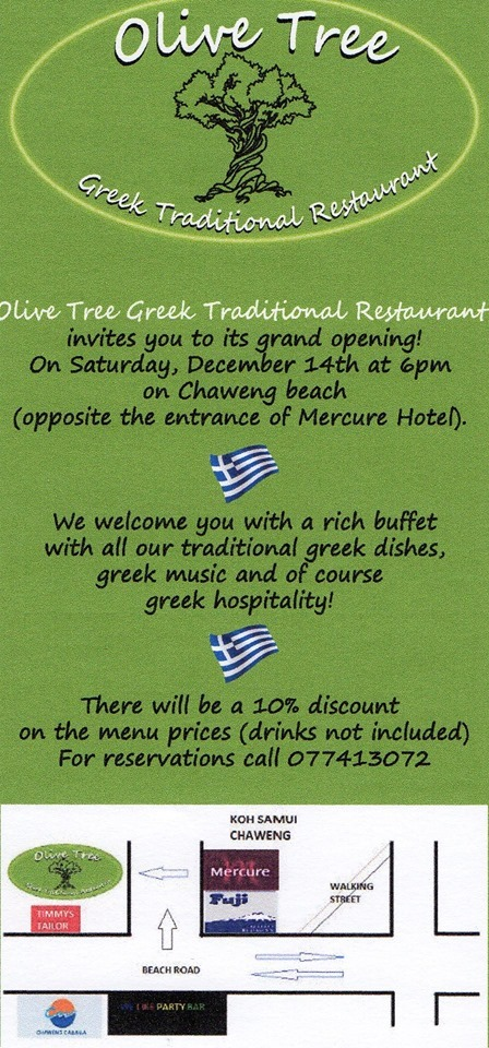 olive tree grand opening