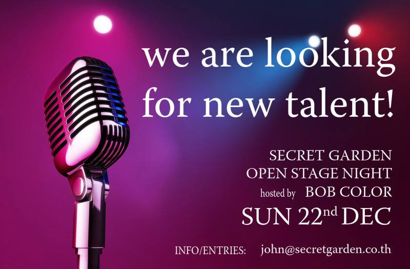 Secret Garden are looking for new talent – it could be you | Samui Times