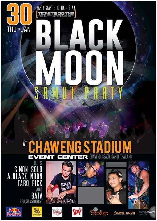 black moon party samui