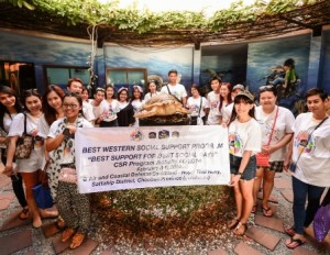 Best Western has helped conserve Thailand's marine environment with a weekend CSR initiative and charitable donation. | Samui Times