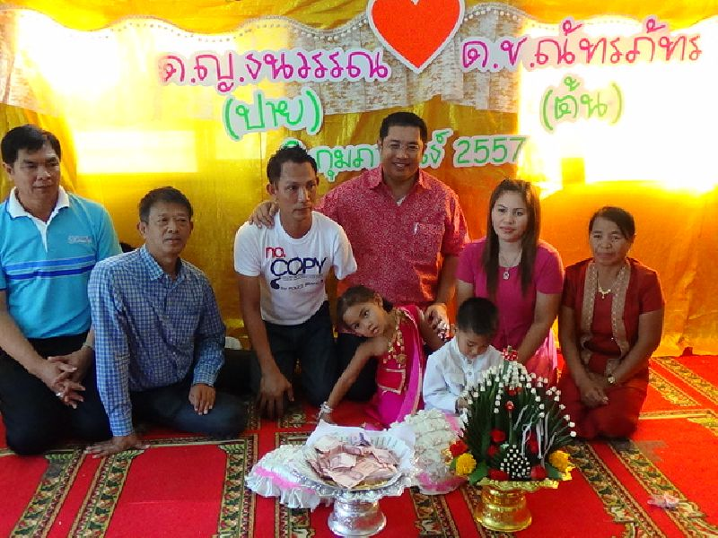 Four year old twins marry each other in Chonburi province | Samui Times