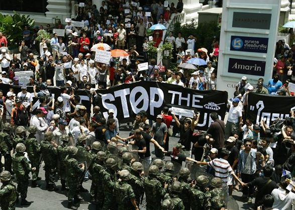 Thai Anti-Coup Protesters Continue to Defy Martial Law | Samui Times