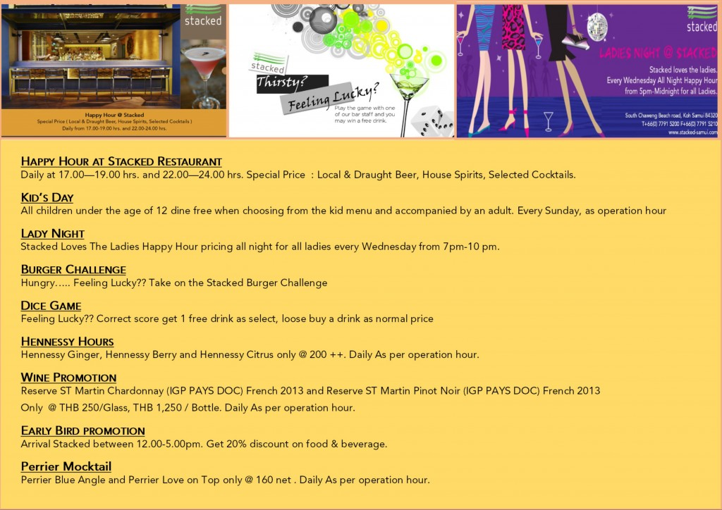Stacked Promotion July for samui Time