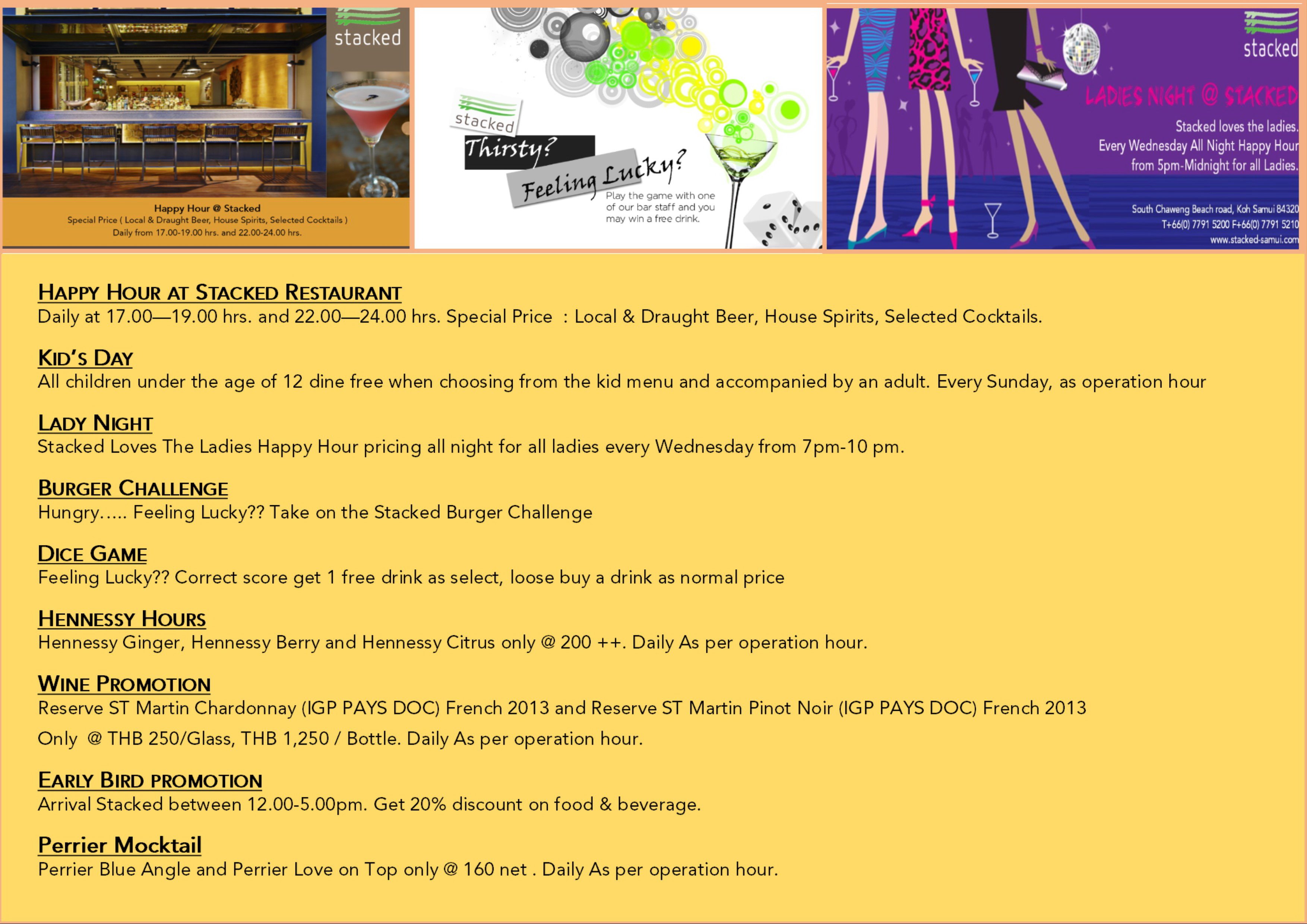 July promotions at Stacked at Ozo Chaweng | Samui Times