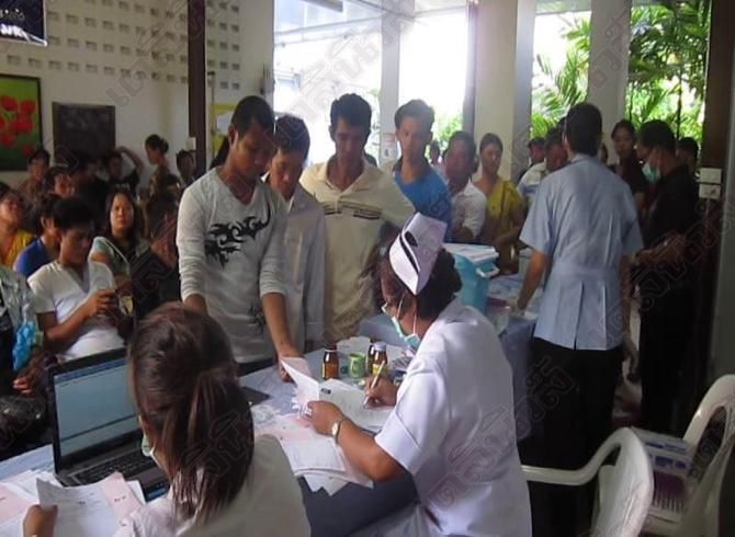 Workers from Myanmar, Cambodia and Laos have health checks in Samui Hospital | Samui Times