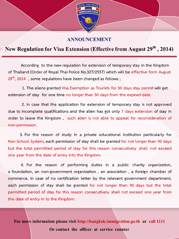 Immigration Announcement About Visa Exempt Extensions & Other Changes On the 29th | Samui Times