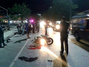 bike crash in chaweng