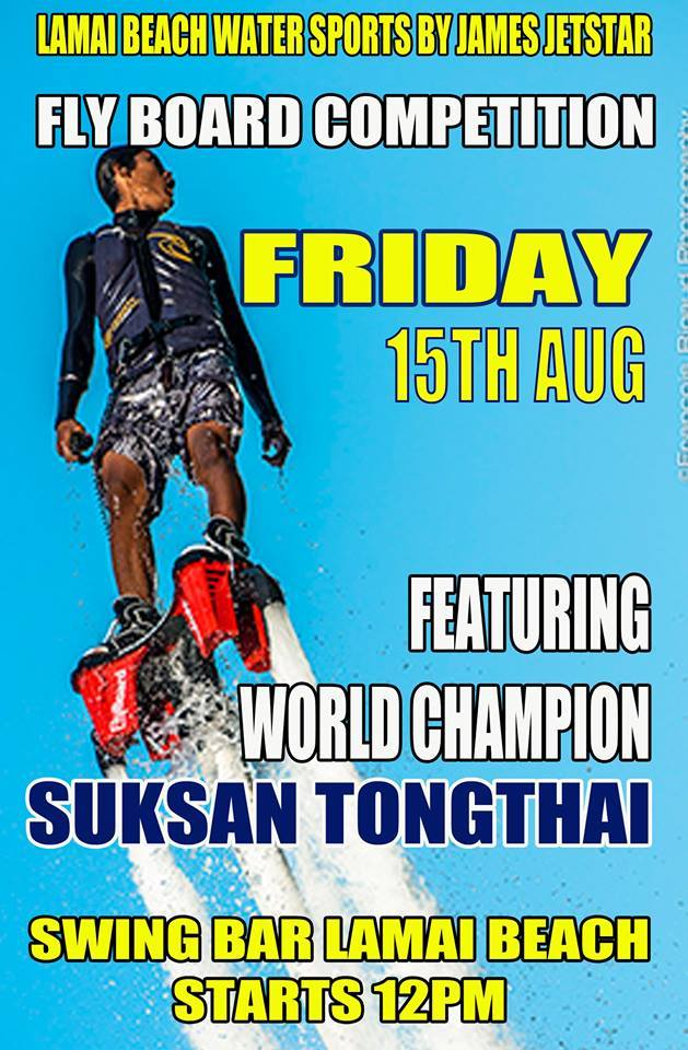 Thailand's First Flyboard Competition by Lamai Beach Watersports | Samui Times