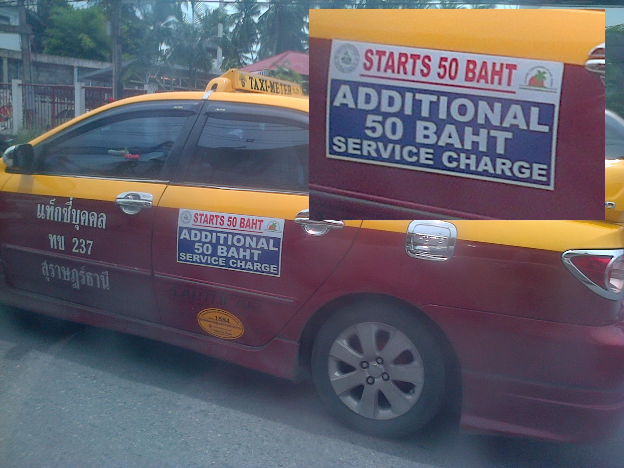 Taxi forced to use a meters now adding fare surcharges in Samui | Samui Times