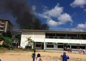 Fire at the school