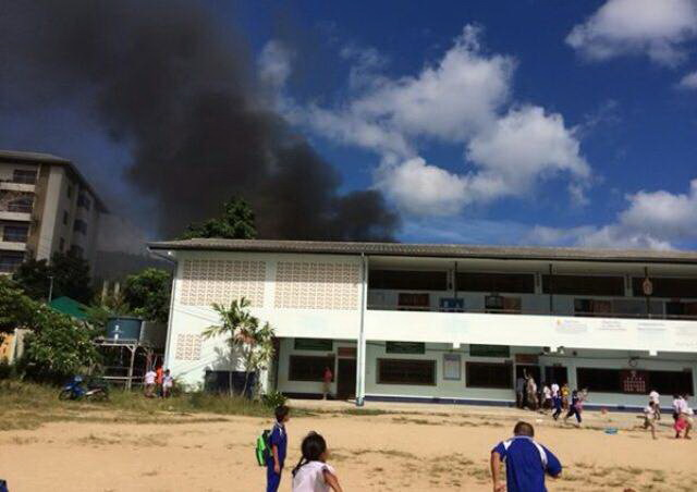 Fire breaks out at a school in Chaweng | Samui Times