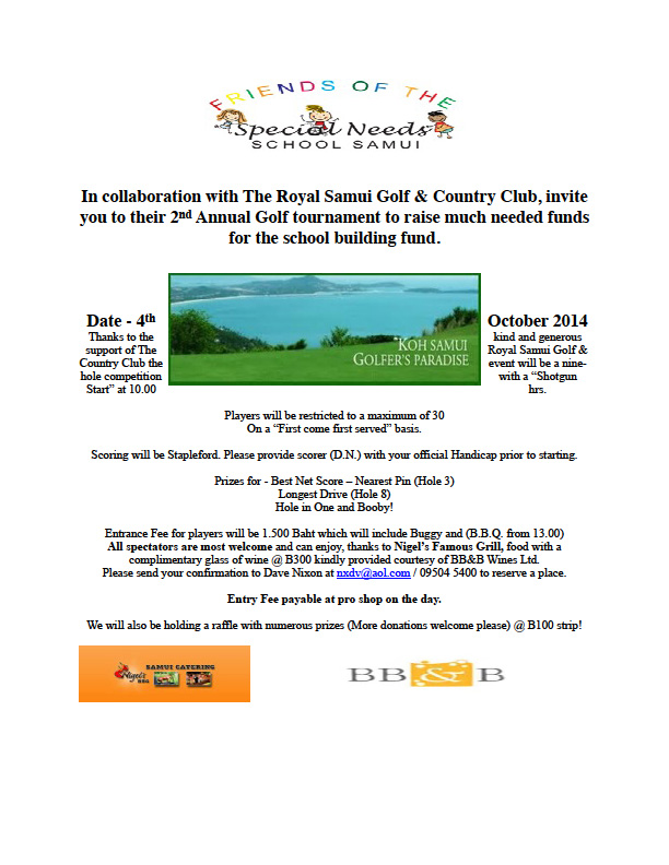 Friends of the Speical Needs Golf Day