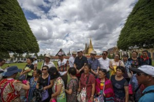 Chinese tourists visit the Grand Palace in Bangkok