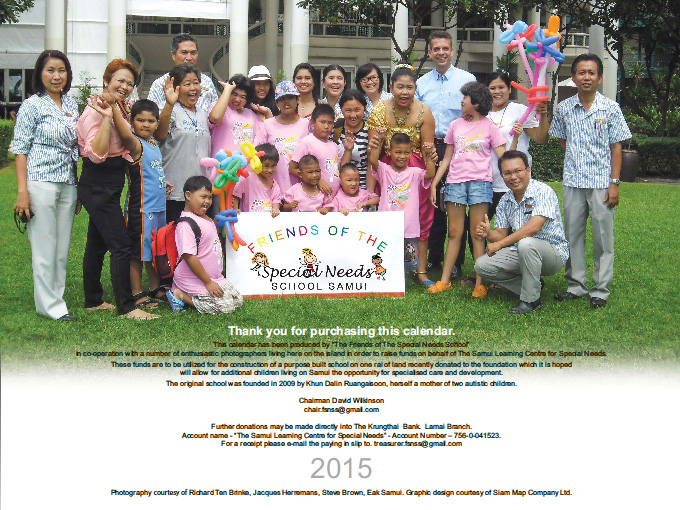 Friends of the Special Needs School Samui calendars 2015 on sale | Samui Times