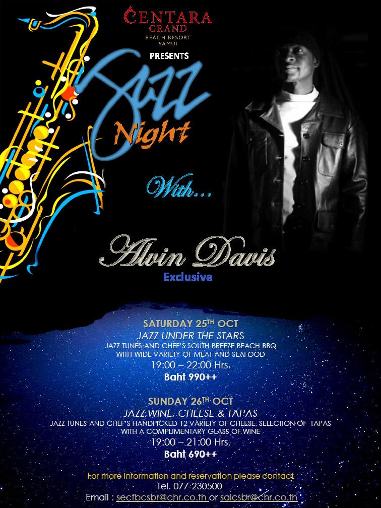 Jazz it up with Alvin Davis' Asian Tour | Samui Times
