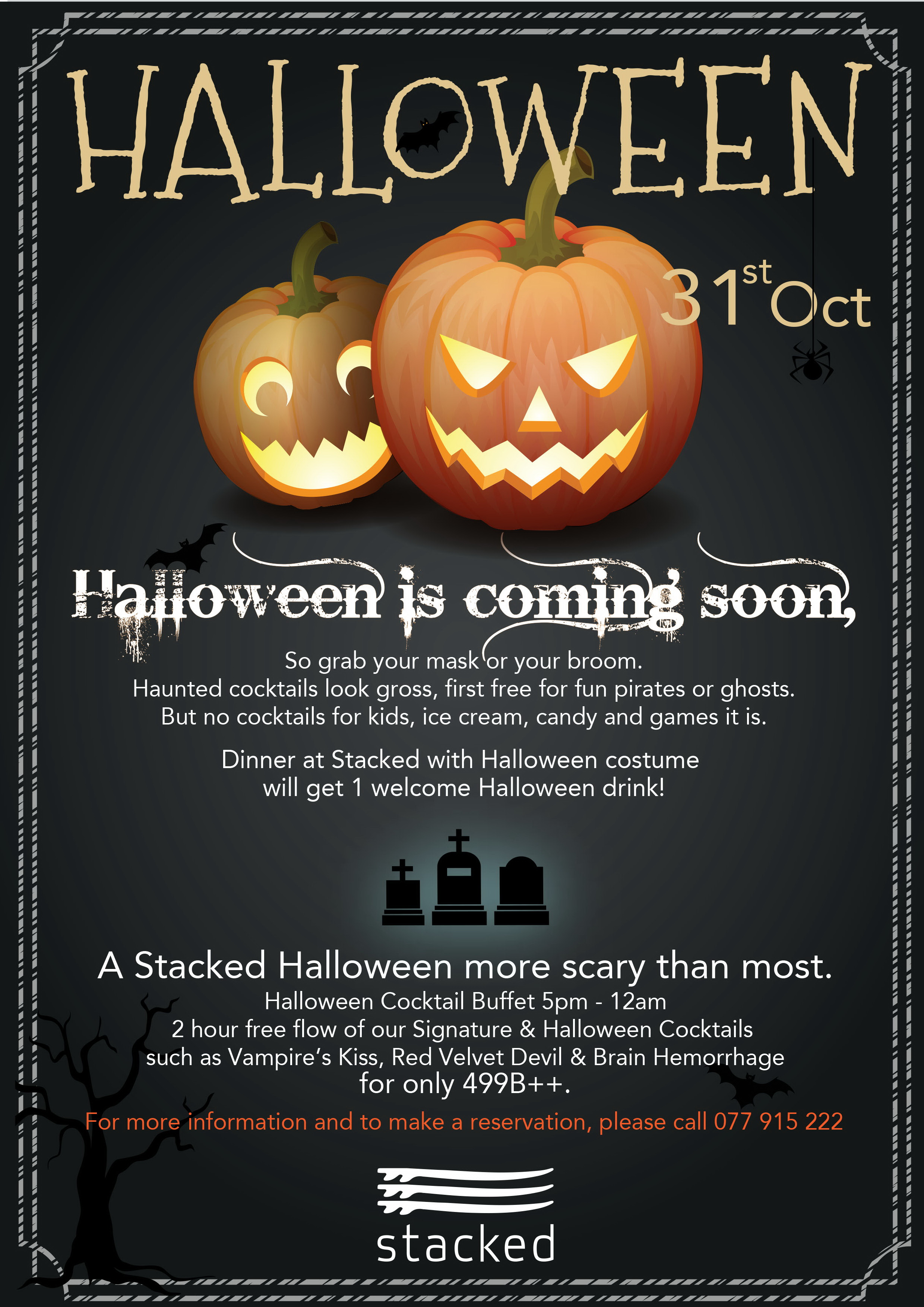 Halloween at Stacked | Samui Times