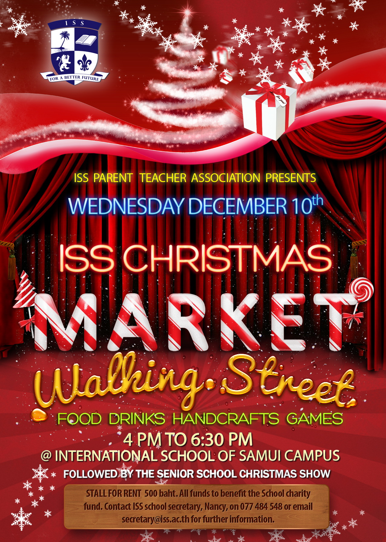 ISS Parent Teacher Association Presents the ISS Christmas Market Walking Street | Samui Times