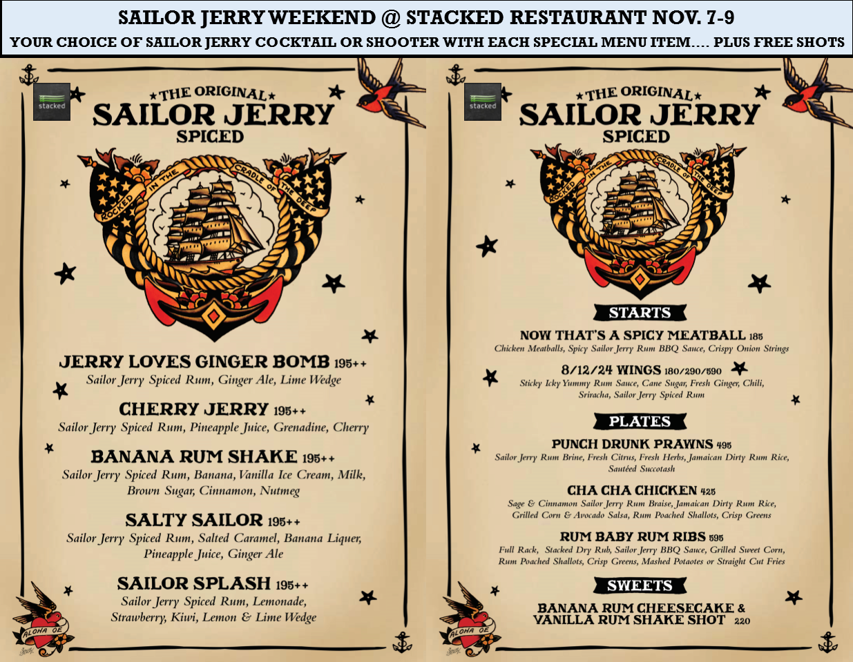 Stacked at Ozo presents Sailor Jerry weekend! | Samui Times