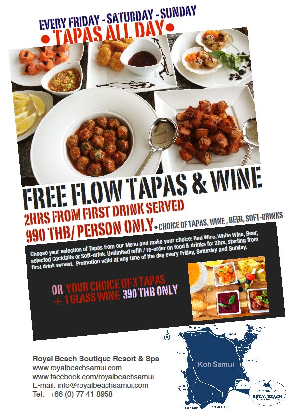Royal Beach Tapas promotion