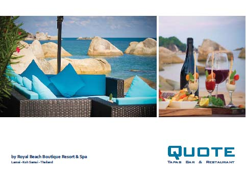 An exciting opportunity to enjoy tapas and wine at the Royal Beach Boutique Resort & Spa   Samui Times