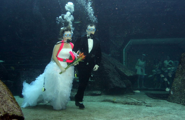 underwater wedding in trang to feature many activities this year samui times. Black Bedroom Furniture Sets. Home Design Ideas