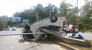 tour van flips in Phuket
