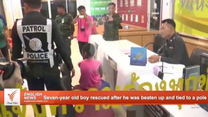 Seven-year old boy rescued after he was beaten up and tied to a pole | Samui Times
