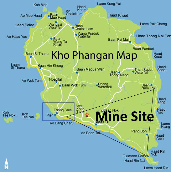 Huge gold mine planned for Koh Phangan Samui Times