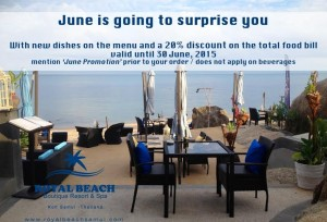 June is going to surprise you at royal beach samui