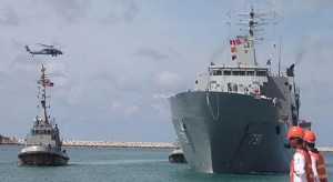 Thailand deploys landing ship as base for migrant-relief effort