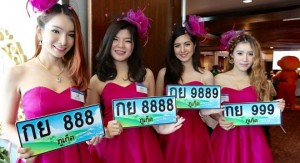 lucky number plates Phuket