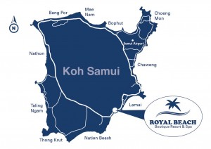 royal beach samui map