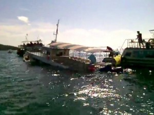boat sinks in Pattaya