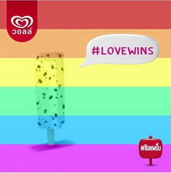 Thai Ice Cream Company Apologizes for Celebrating US Gay Marriage With 'Offensive' Joke | Samui Times
