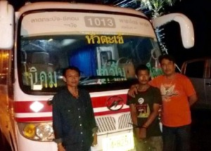 man stole a bus in Thailand