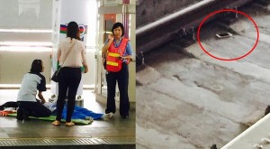 texting student falls on to train tracks in Thailand