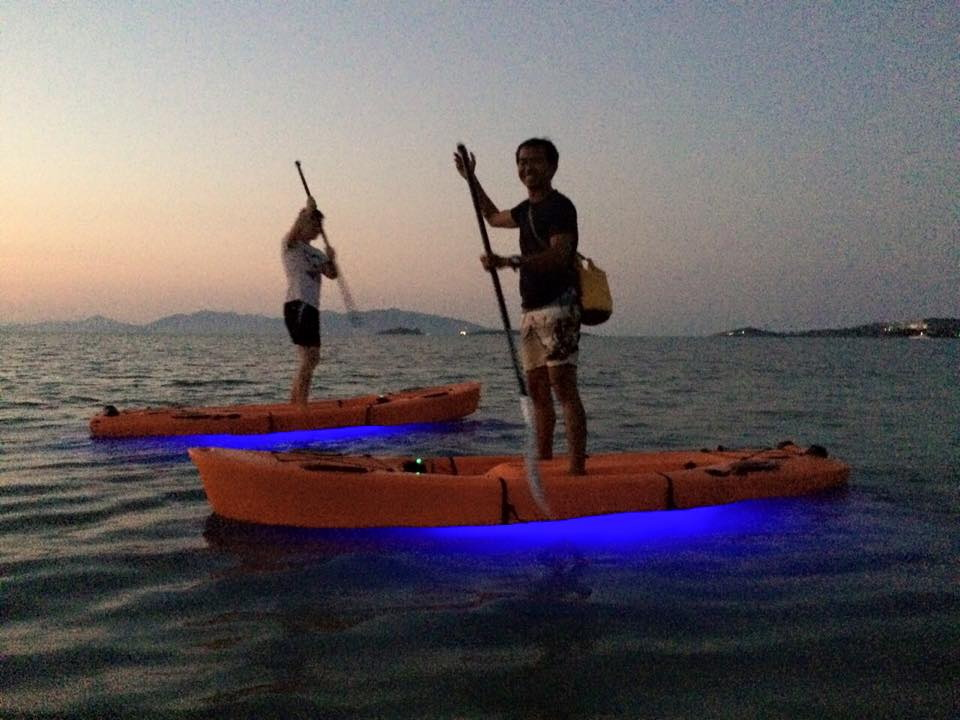 LED lite equipped paddle board trips – exploring the Samui night life just got a lot more exciting | Samui Times