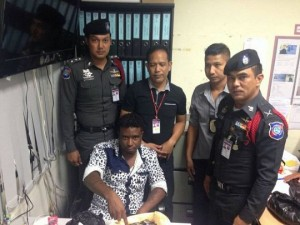 criminal knabbed in Phuket