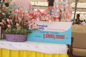 Bangkok airways donate one million to special needs school
