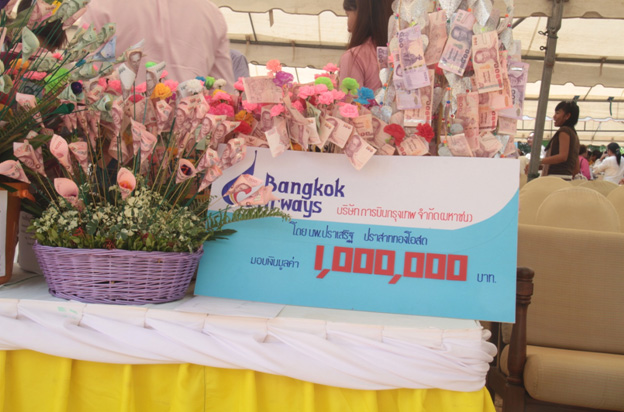 Bangkok Airways donate one million baht to the Special Needs School | Samui Times