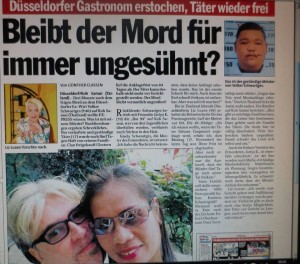 German newpaper covering the murder case